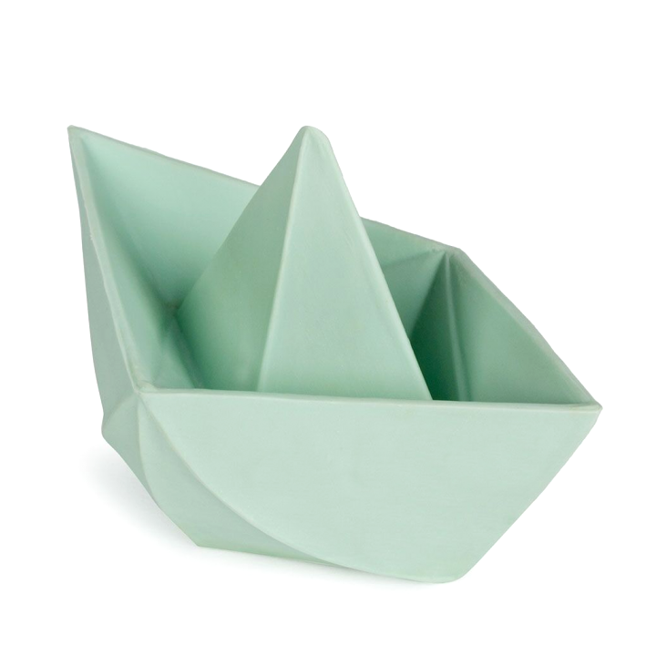 Origami Boat Bath toy - Mint
