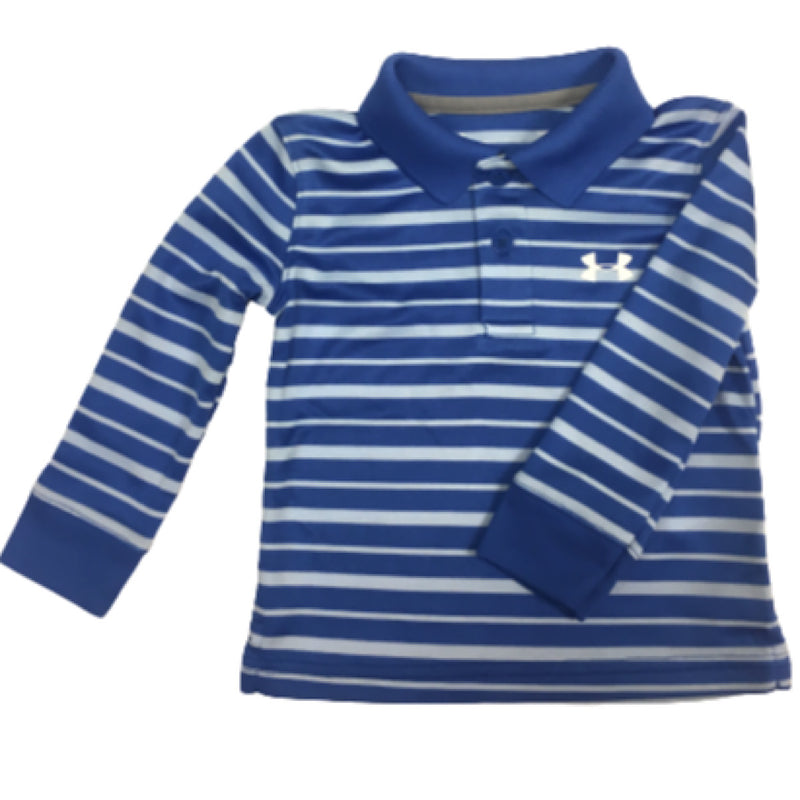 Under Armour Striped Long Sleeve Polo
