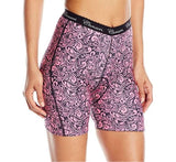 Canari Women's Crazy Lily Liner Shorts, Pink Flower, Medium