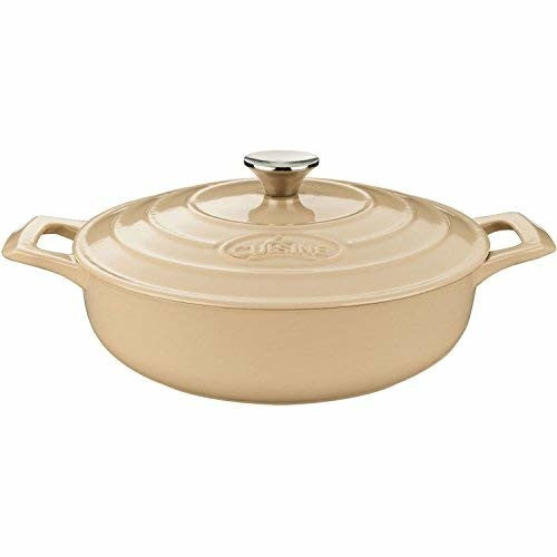 La Cuisine Saute  3.75 Qt Enameled Cast Iron Covered Dutch Oven