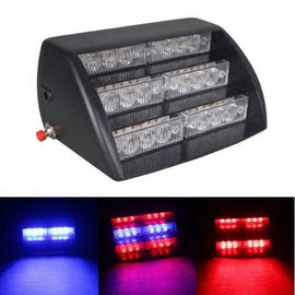 Red & Blue LED Emergency Flash Light Dash Warning HS-51034