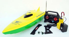 RC Balaenoptera Musculus Racing Speed Boat Radio Remote Control - Yellow Green