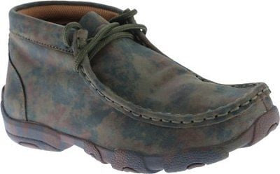 Twisted X Childrens YDM0010 Cowkids Leather Driving Moccasin Camo Size 4 US