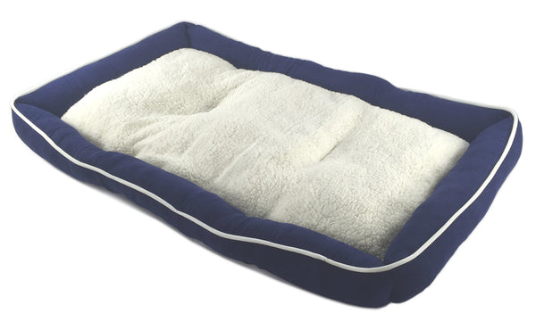 Pet Bed Cushion Mat Pad Dog Cat Kennel Crate Cozy Soft Sheep Fur 48 x 30 x 3
