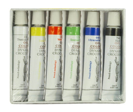 6 Color Oil Paint Set 12 ml Tubes Artist Draw Painting Rainbow Pigment