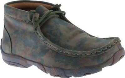 Twisted X Childrens YDM0010 Cowkids Leather Driving Moccasin Camo Size 3.5 US