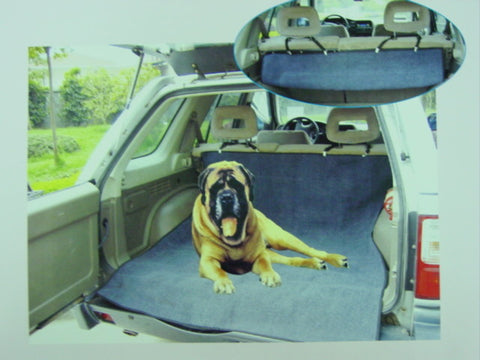 PET CAR COVER - GREY Plush - REAR SEAT TRUCK CARPET NEW!