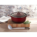 La Cuisine 5 Qt Enameled Cast Iron Covered Round Dutch Oven, Ruby