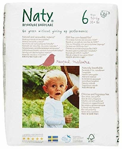 Naty Diapers - Size 6-18 ct