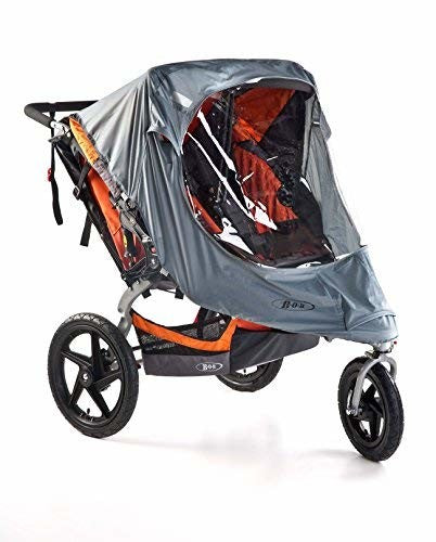 BOB Weather Shield for Duallie Swivel Wheel Strollers, Grey