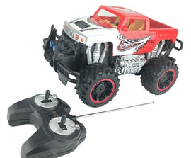 RC Pickup Truck Toy Remote Control, 1:12 Scale Electric Vehicle Off Road, Red/Wh