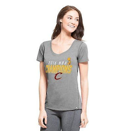 NBA Cleveland Cavaliers Women's 2016 Champions '47 High Point Tee, Small Grey