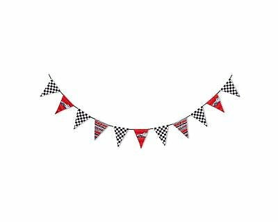 Disney Cars Lightning McQueen Flag Bunting Kids Banner Bedroom Decor Party