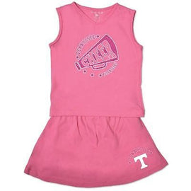NCAA Tennessee Volunteers Toddler Girl Cheer Set, 3 Toddler, Pink Crush