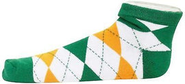 Ireland Argyle No Show Footie Socks