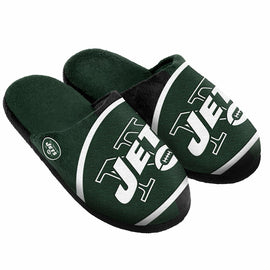 NFL New York Jets Split Color Slide Slipper, Small, Green