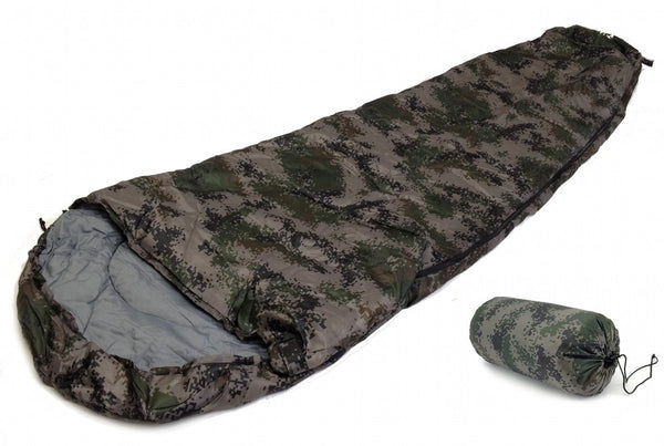 8' Sleeping Bag for 20+ Degrees Fahrenheit - Mummy Style Digital Camo