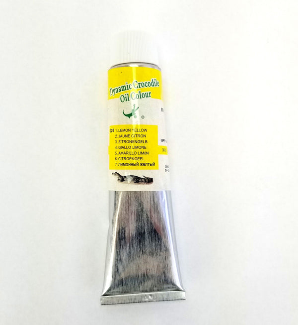 Artist Quality Oil Paint, Color: 320 Lemon Yellow, 170 ml Tube, ASTM D4236