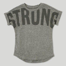 Toddler Boys' Afton Street Strong Short Sleeve T-Shirt - Heather Gray 18 M