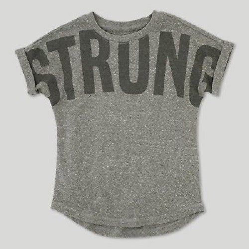 Toddler Boys' Afton Street Strong Short Sleeve T-Shirt - Heather Gray 5T
