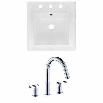 American Imaginations AI-16028 Ceramic Top Set with Faucet, 16.5