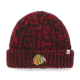 NHL Chicago Blackhawks Womens 47 Prima Cuff Knit Beanie Black