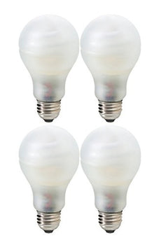 Pack of 4 GE 15W CFL Energy Smart Bulb Equivalent to 60W Soft White Color Tone A19