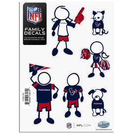 Houston Texans Official NFL Small Family Decal Set by Siskiyou 135729