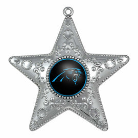 "Carolina Panthers 4"" Silver Star Ornament"
