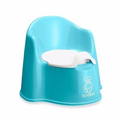 Brand New! Baby Bjorn Portabel Childs Toilet Trainer RN Potty Chair - Turquoise