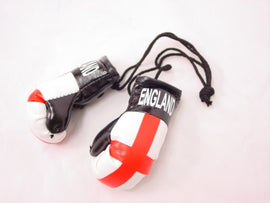"Hanging Mini Boxing Gloves 3.5"" ENGLAND Auto Dorm Locker Room Decor Souvenirs"