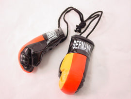 "Hanging Mini Boxing Gloves 3.5"" GERMANY Auto Dorm Locker Room Decor Souvenirs"