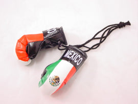 "Hanging Mini Boxing Gloves 3.5"" MEXICO Auto Dorm Locker Room Decor Souvenirs"