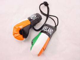 "Hanging Mini Boxing Gloves 3.5"" IRELAND Auto Dorm Locker Room Decor Souvenirs"