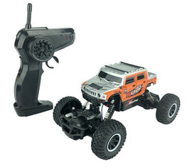 RC Hummer Truck Toy Remote Control, 1:20 Scale Electric Vehicle Off Road, Orange