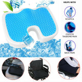Gel Enhanced Seat Cushion, Orthopedic Gel & Memory Foam for Pressure Relief, Sciatica & Back Pain Relief for Home, Office and Travel