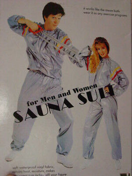 Unisex Sauna Sweat Suit Adult XXL Fitness Gym Fitness Exercise Yoga Weight Loss