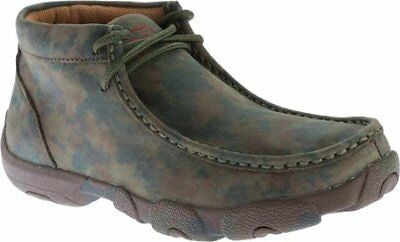 Twisted X Women's WDM0014 Driving Moccasin Lace Up Camo Leather  Size 6.5 US