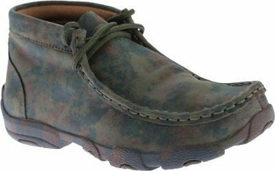 Twisted X Childrens YDM0010 Cowkids Leather Driving Moccasin Camo Size 2 US