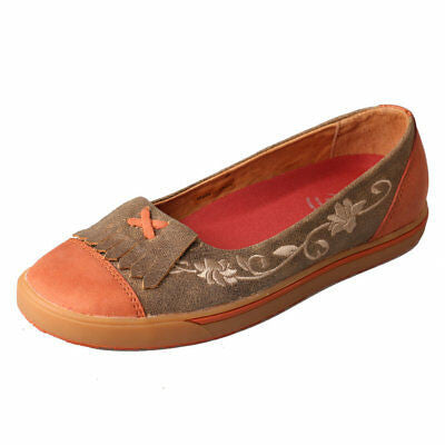 Twisted X Women's WCA0001 Casual Flat Slip-On Shoes Brown Sunburn Size 9 US