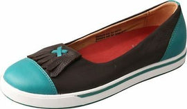 Twisted X Women's WCA0002 Casual Flat Slip-On Turquoise Chocolate Size 9 US