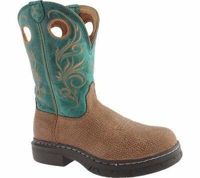 Twisted X Boots Women's Cowgirl WEZS003 Distressed Grain Green Leather 7.5M