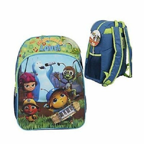 Netflix Beat Bugs Backpack All You Need is Love Music Button Back to School
