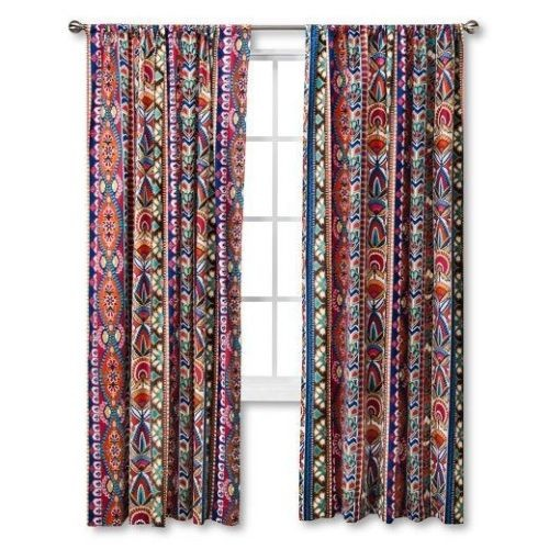 Ecom MudHut Talavera Window (ONE) Panel Curtain Bright Blue MUL Shapes