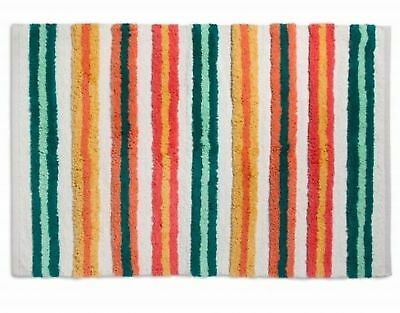 Woven Cotton Accent Stripe Area Throw Rug (48
