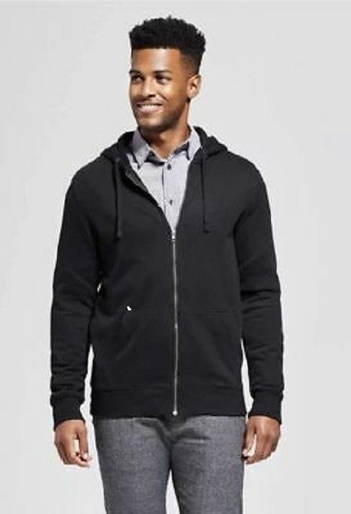 Men's Standard Fit Sherpa Fleece Jacket - Goodfellow & Co - Black Large