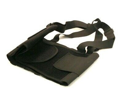 BACK SUPPORT BELT - SIZE LARGE BLACK - SHOULDER STRAPS