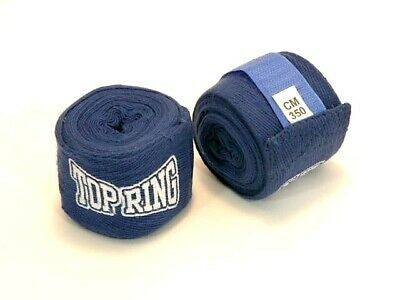 Boxing Hand Wrist Wraps 1 Pair Boxing Bandages Protecting Fist Punching MMA BLUE
