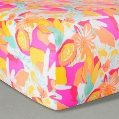 Oh Joy Target Fitted Crib Sheet - Baby - Floral Pink Nursery - Free shipping