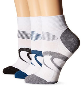 Woman's ASICS Intensity Quarter Socks (3-Pack)